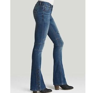 Free People Stretch Seamed Flare Dark Crate Blue